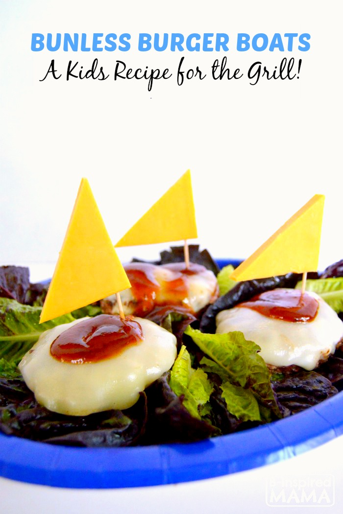 Fun Bunless Burger Boats Kids Recipe