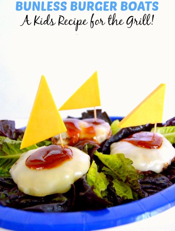 Fun Bunless Burger Boats Kids Recipe