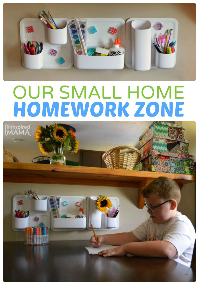 Our Small Home Homework Zone Solution
