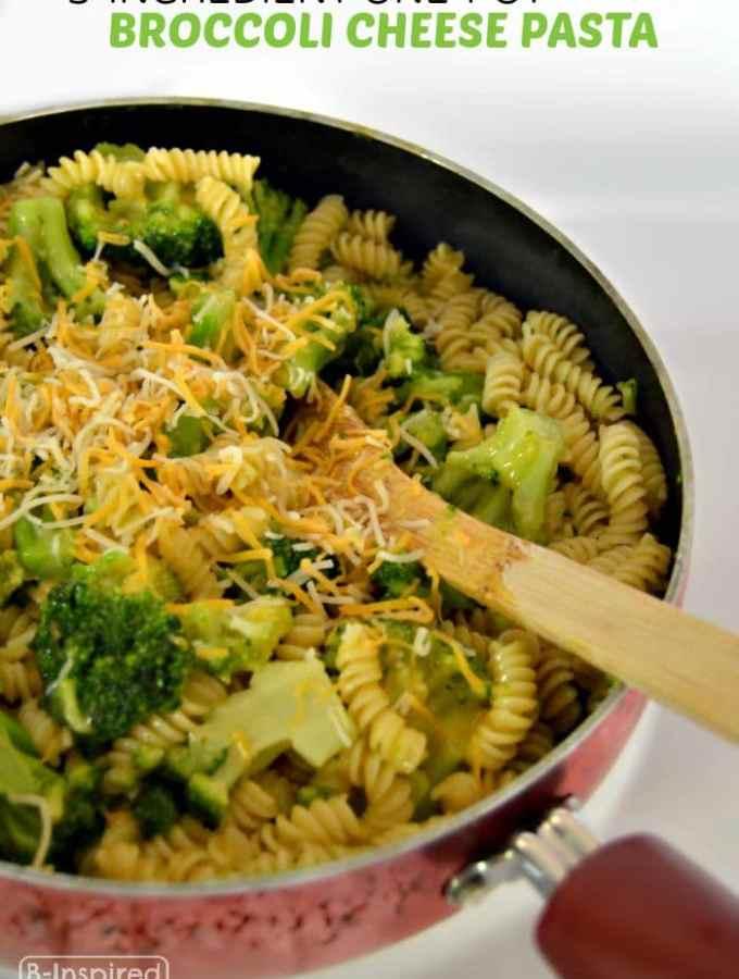 3 Ingredient One-Pot Broccoli Cheese Pasta Recipe