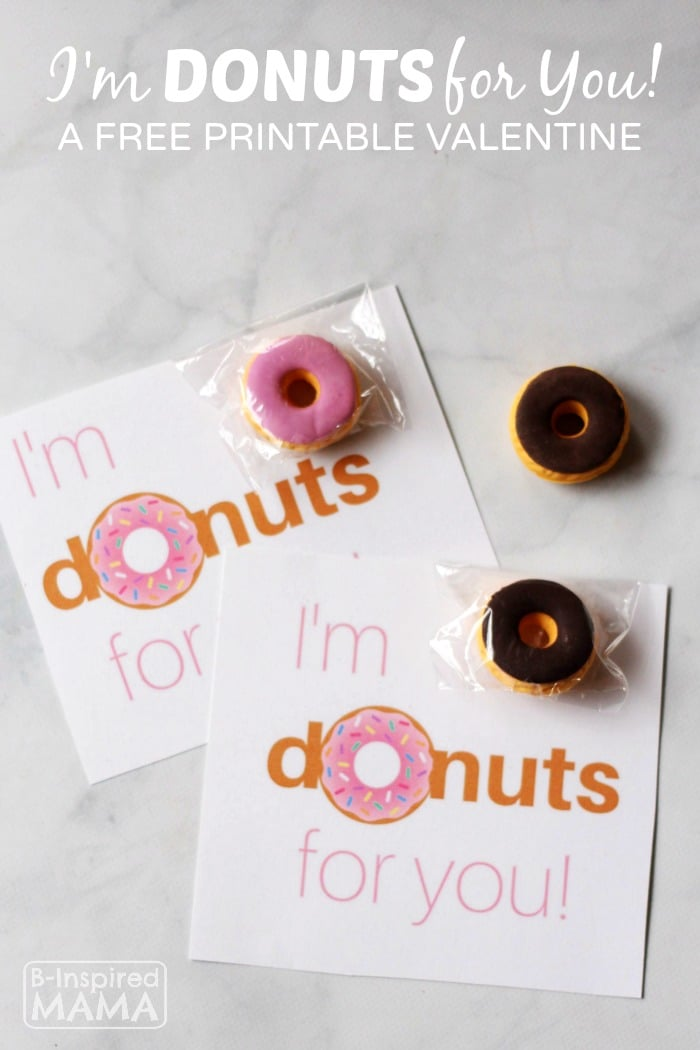 """I'm Donuts for You!"" FREE Printable Valentines"