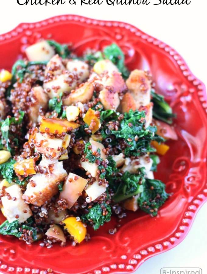 Healthy Chicken and Red Quinoa Salad