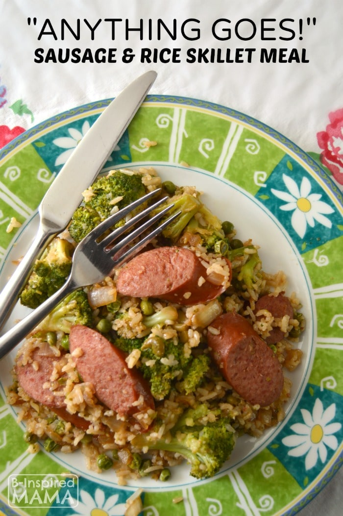 """Anything Goes!"" Sausage and Rice Skillet Meal"