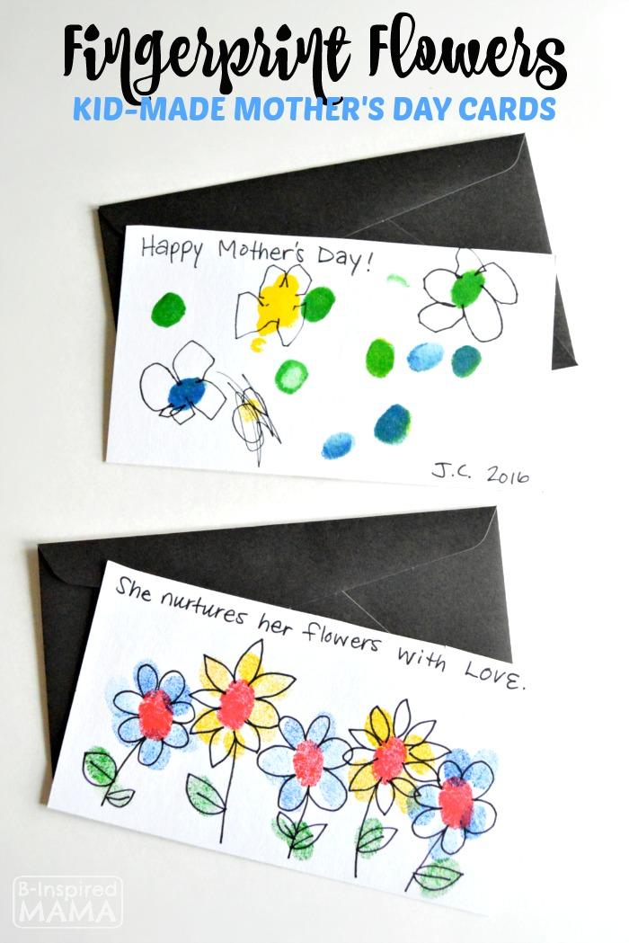 Sweet Fingerprint Flowers – Handmade Mother's Day Cards for Kids