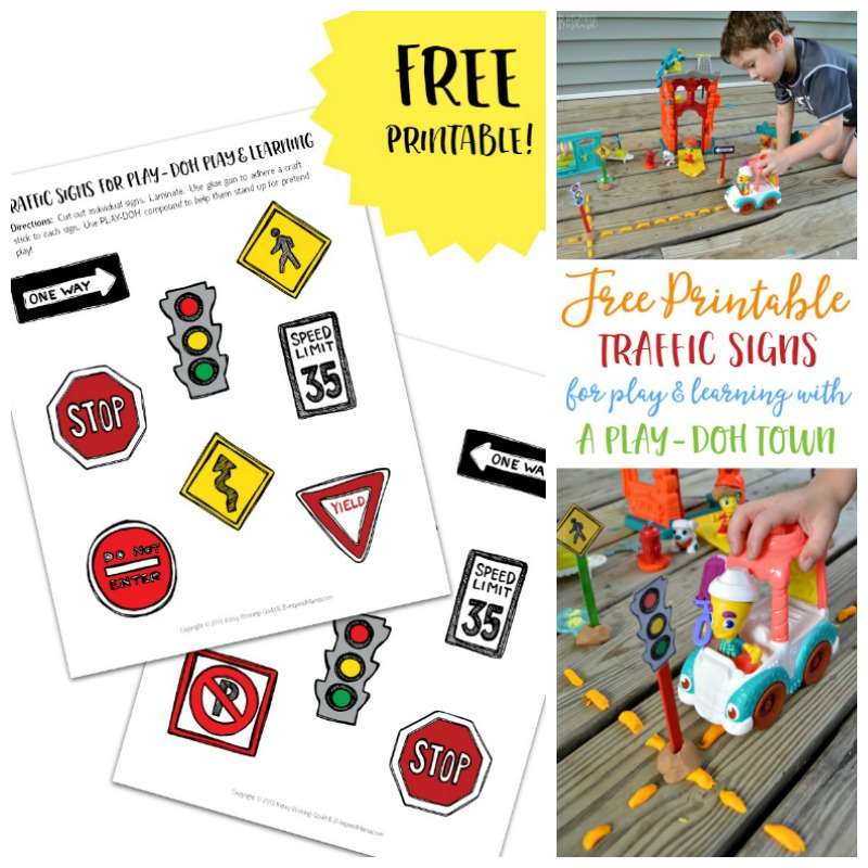 Printable Traffic Signs for PLAY-DOH Towns Play and Learning