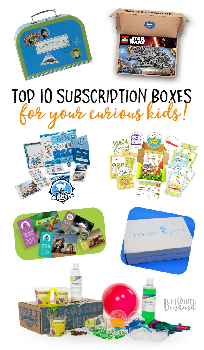 10 Best Subscription Boxes for Curious Kids + A Creation Crate Giveaway