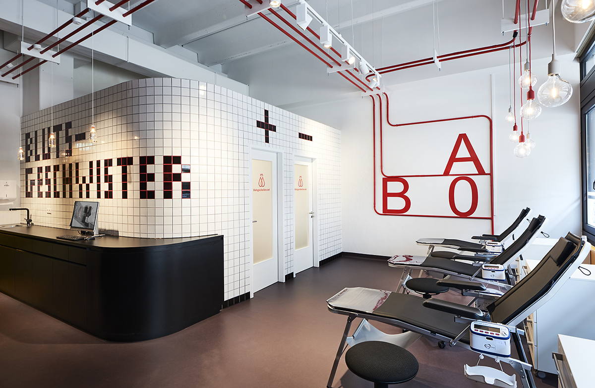 Interior Designer Hamburg Blood Donation Room On The Hamburg University Campus Brandherm