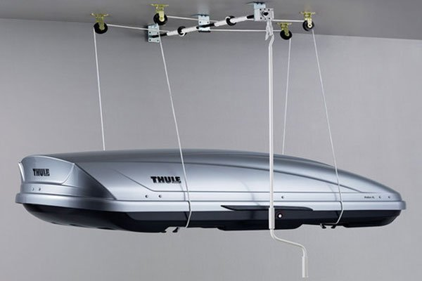Thule Boxlift Thule Roof Cargo Box Garage Storage