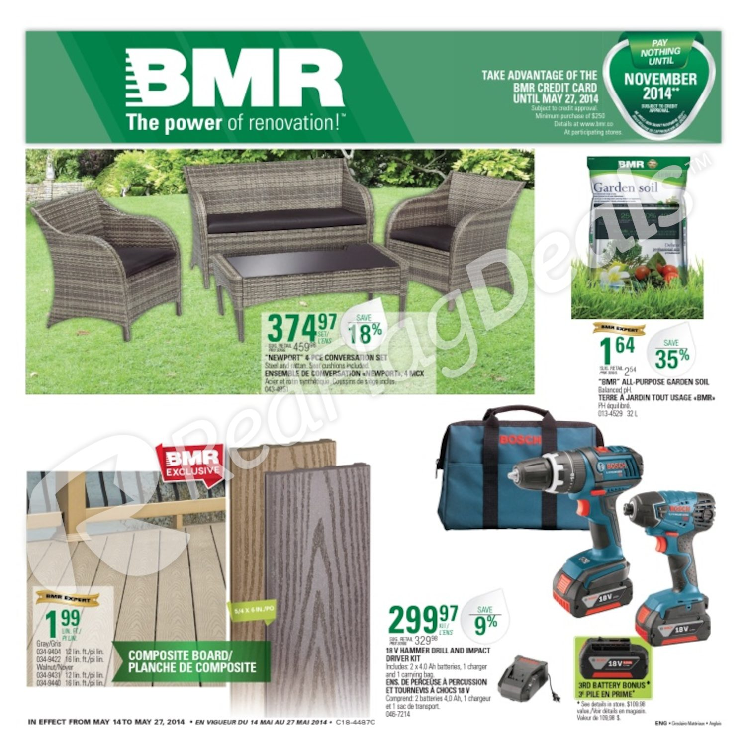 Lumiere Exterieur Bmr Bmr Weekly Flyer Flyer May 14 27 Redflagdeals