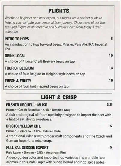 World of Beer Menu, Menu for World of Beer, Lakewood, Denver