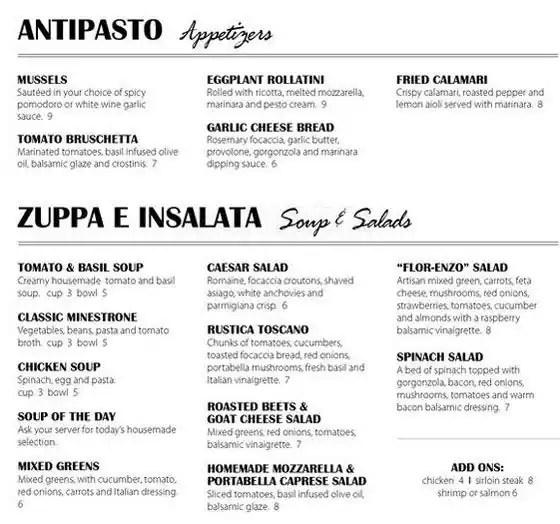 Enzo\u0027s Italian Menu, Menu for Enzo\u0027s Italian, Florence, Omaha - italian menu