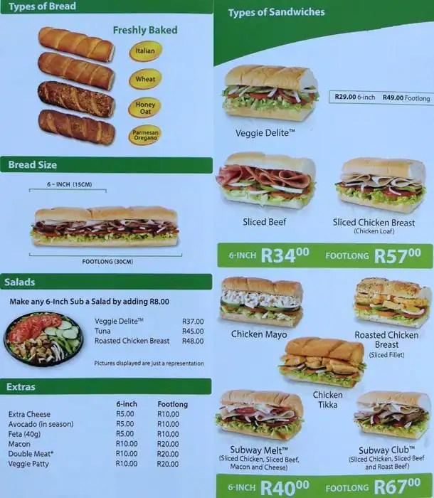 subway picture menu - Ecosia