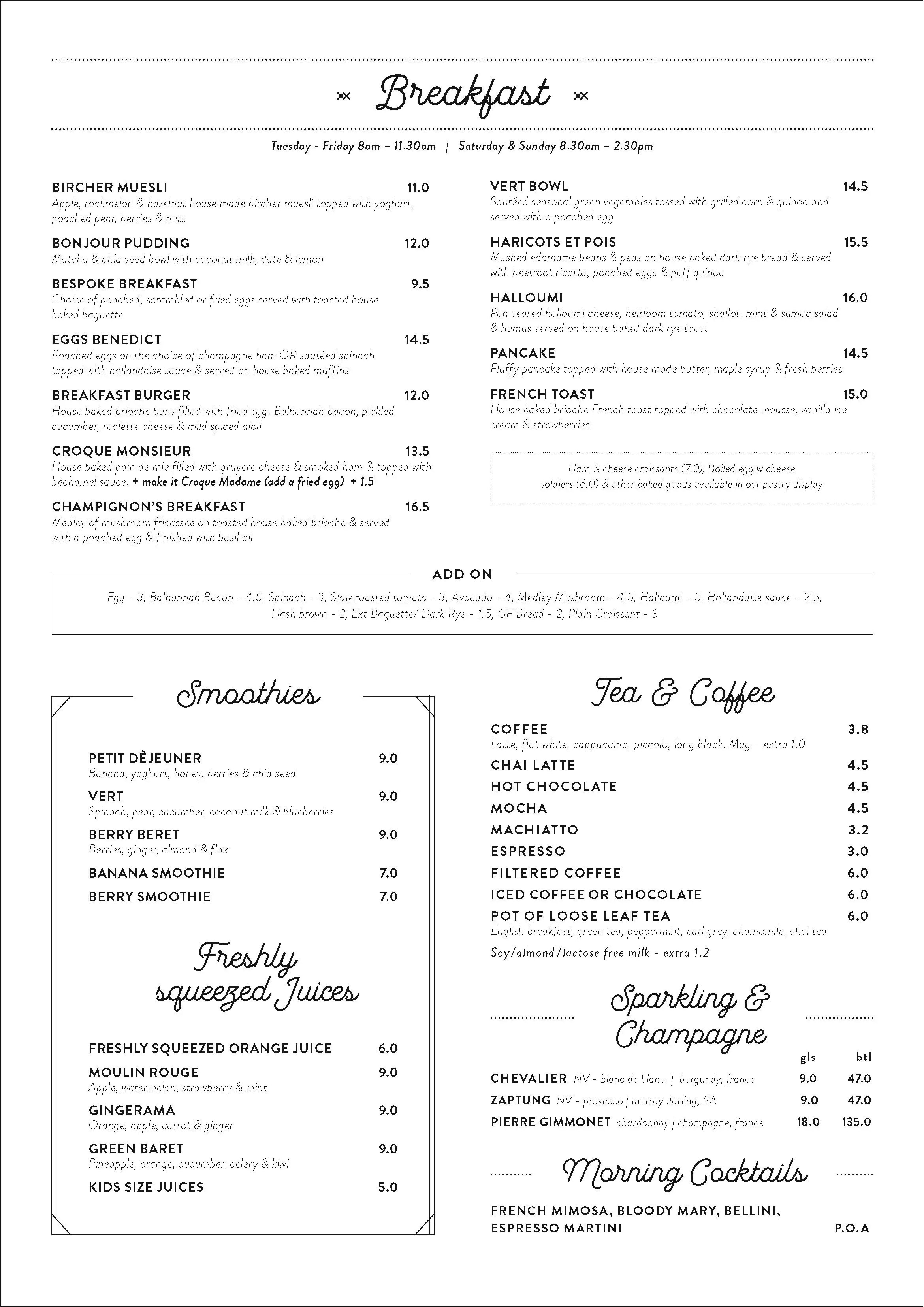 Cucina Restaurant North Adelaide Menu Cliche Menu Menu For Cliche North Adelaide Adelaide