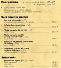 Patio menu, Menu restauracji Patio, rdmiecie, Katowice