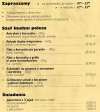 Patio menu, Menu restauracji Patio, rdmiecie, Katowice ...