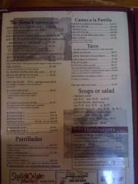 Patio Restaurant Menu
