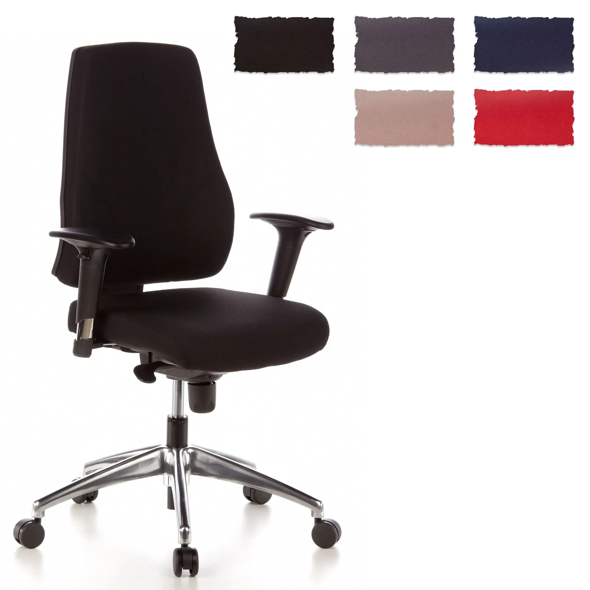 Cloth Covered Office Chairs Swivel Office Chair Reclining Seat Ergonomic Desk Pro Tec