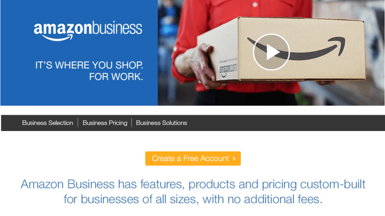 Screenshot Amazon Business