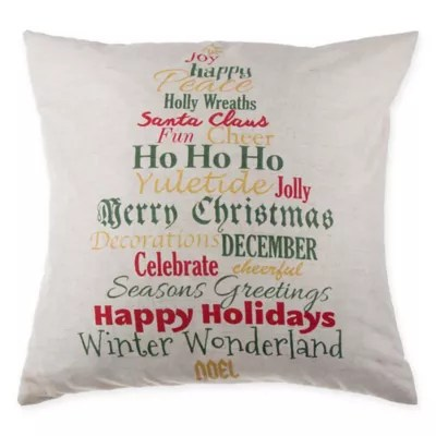 Buy Make Your Own Pillow Word Tree Throw Pillow Cover From