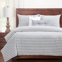 Buy SISovers Farmhouse Queen Duvet Cover Set in Grey ...
