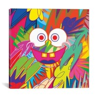 Wall Decor > iCanvas SpongeBob 37-Inch Square Canvas Wall Art