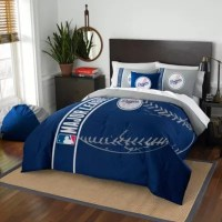 Buy MLB Los Angeles Dodgers Full Embroidered Comforter Set ...