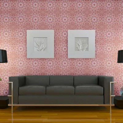 Tempaper® Removable Wallpaper in Medallion Berry | Bed Bath & Beyond