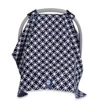 Balboa Baby Car Seat Canopy in Navy/White Circle | Bed ...