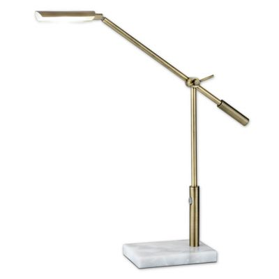 Buy Adesso Vera Desk Lamp in Brass from Bed Bath & Beyond