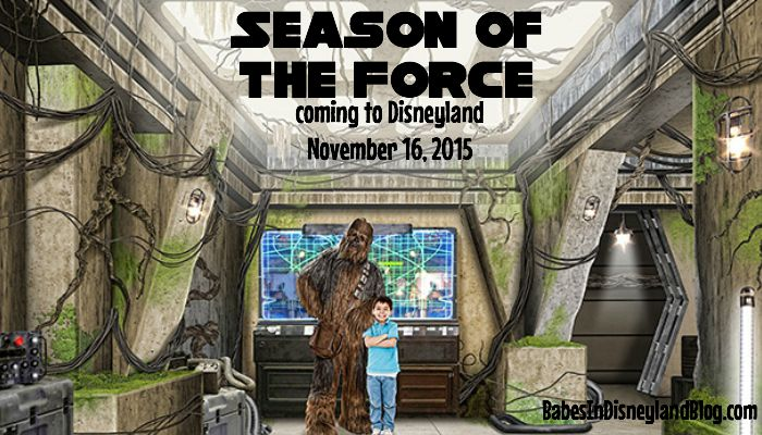 Season of the Force Begins November 16 at Disneyland