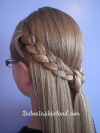 Crimped Knotted Braid Pullback   Babes In Hairland