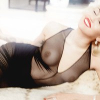 Miley Cyrus topless by Mario Testino for German Vogue