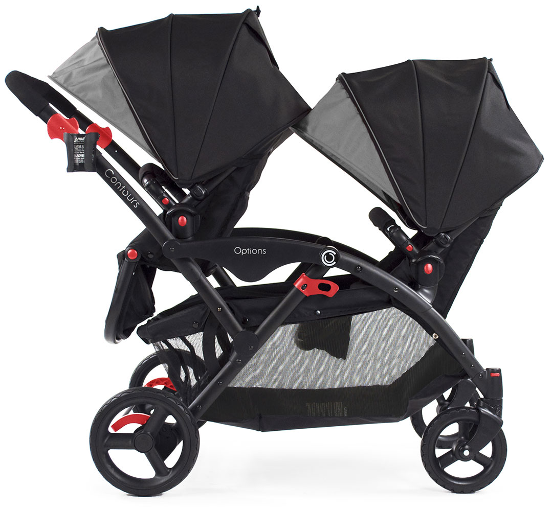 Babies R Us Video Monitors Contours Options Tandem Stroller Black Grey R