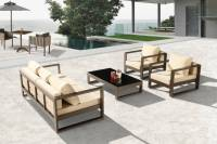Amber Modern Outdoor Sofa Set for 5 with 2 Club Chairs