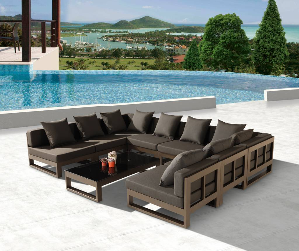 Outdoor Couches Large Outdoor Sofa Teak Wood Furniture Couch New Home