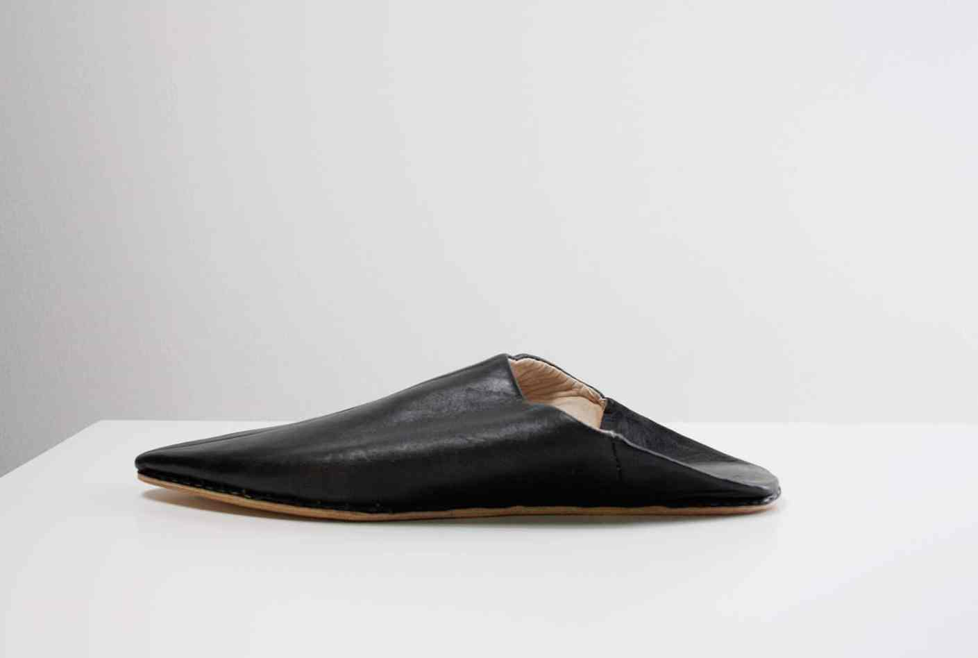 unisex, slip-on-Babouche, slipper, schwarz
