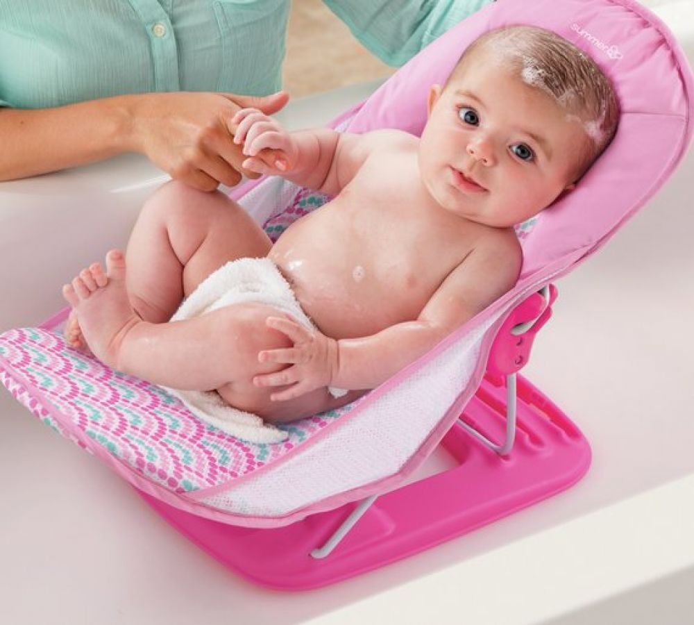 Infant Bath Time Products Summer Infant Baby Bather Pink