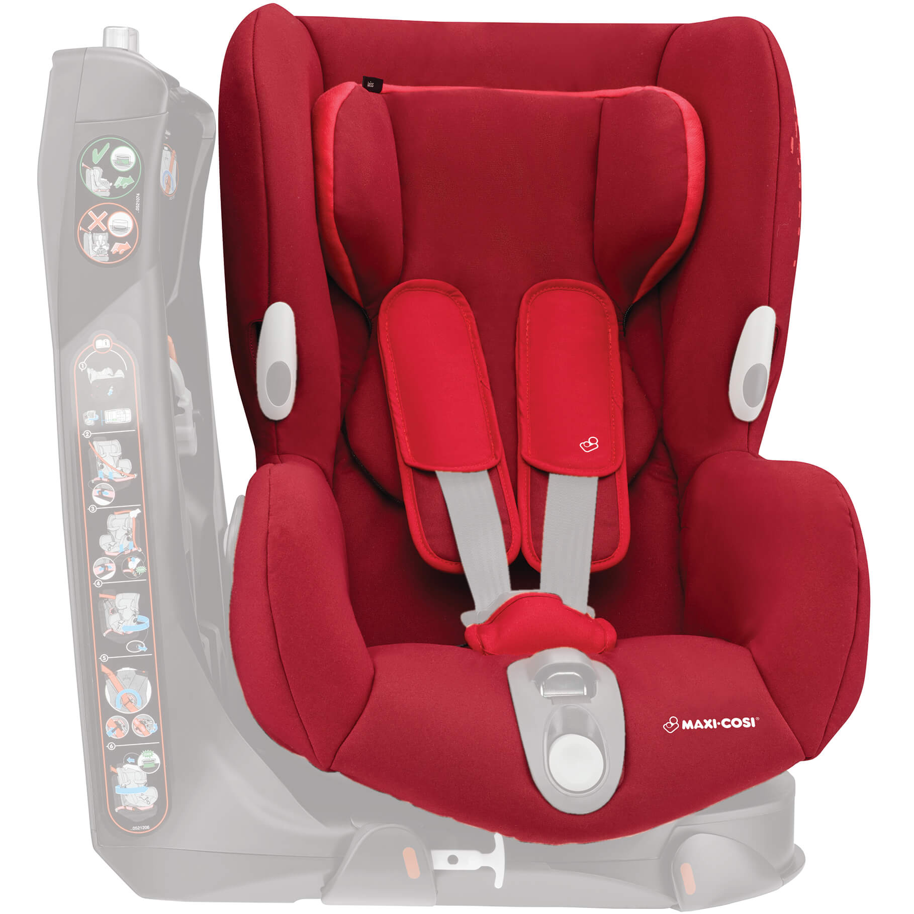 Maxi Cosi Axiss Baby Car Seat Maxi Cosi Axiss Complet Cover Vivid Red