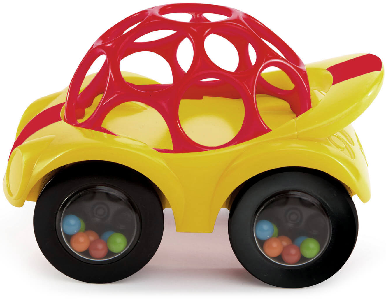 Britax Duo Twin Dolls Buggy Hot Pink Oball Rattle Roll Yellow Red Car