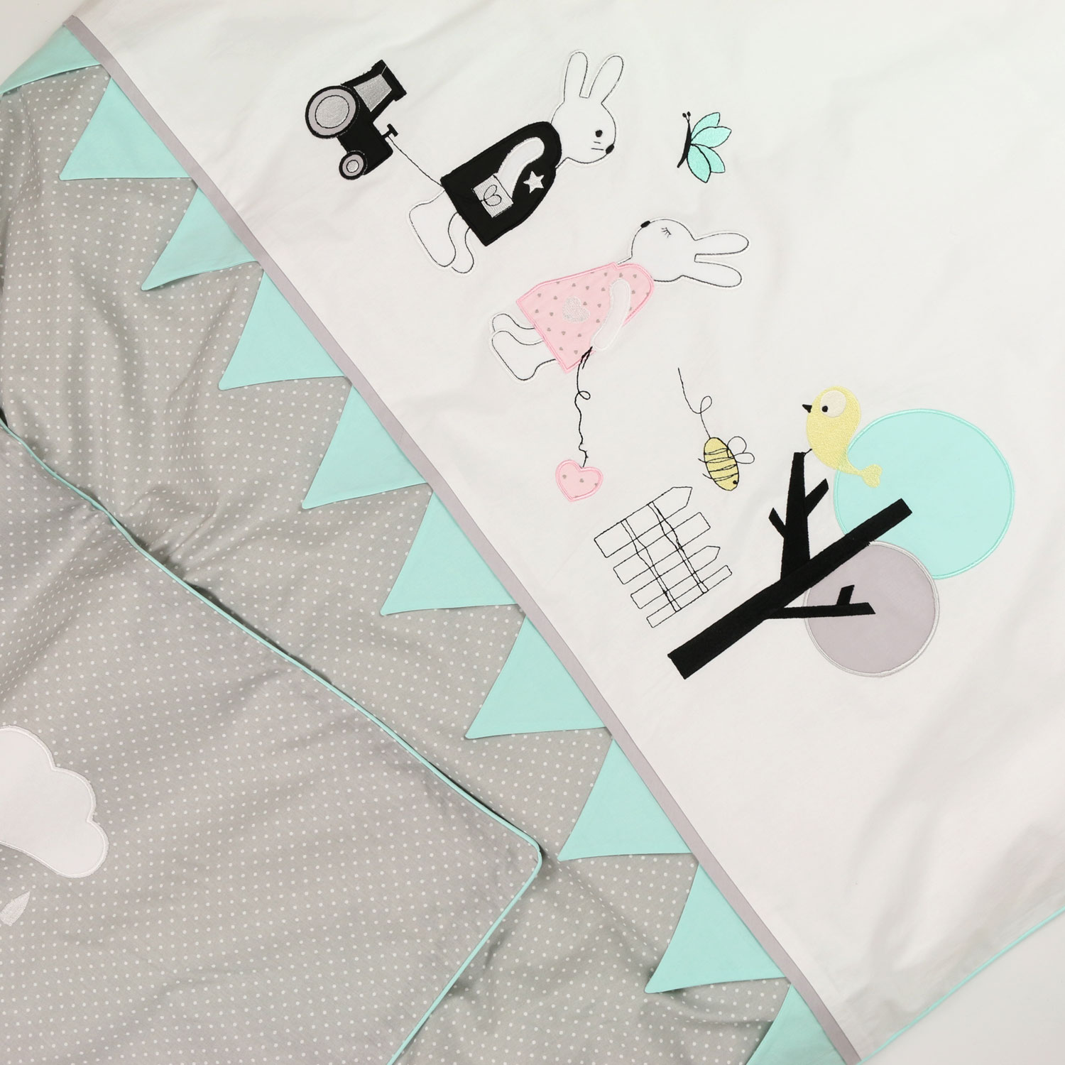 Kinderbettwäsche Mint Baby Lal By Peri Interior For Kids Aus Berlin Hasenfreunde