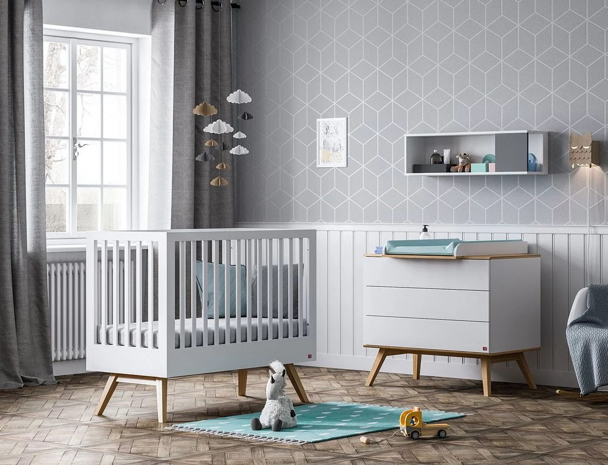 Kommode 120x60 Baby Vox Nature Blanc 3 Meubles Lit 120x60 Commode