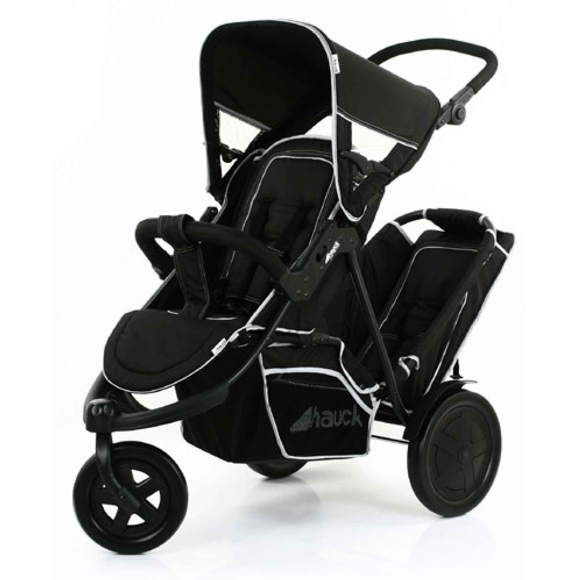 Double Stroller Rain Cover Hauck Freerider In Line Tandem Double Buggy Inc Raincover Black