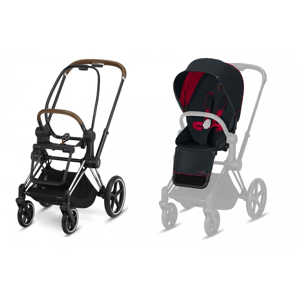 Cybex Stroller Support Cybex Cybex Priam Stroller Seat Pack Ferrari Collection 2019 Victory Black Chrome