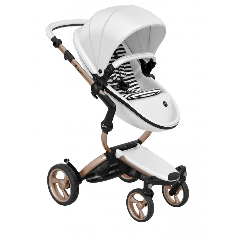 Mima Xari Seat Box 2 Snow-white Xari 3 In 1 Pushchair Snow White Rose Gold Chassis