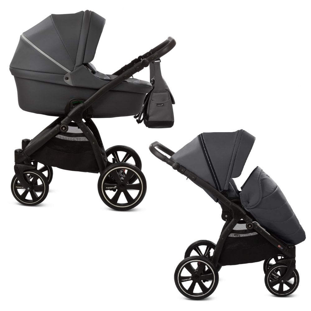 Baby Travel Systems Northern Ireland Noordi Noordi Fjordi Leather 2 In 1 Stroller Shadow Grey