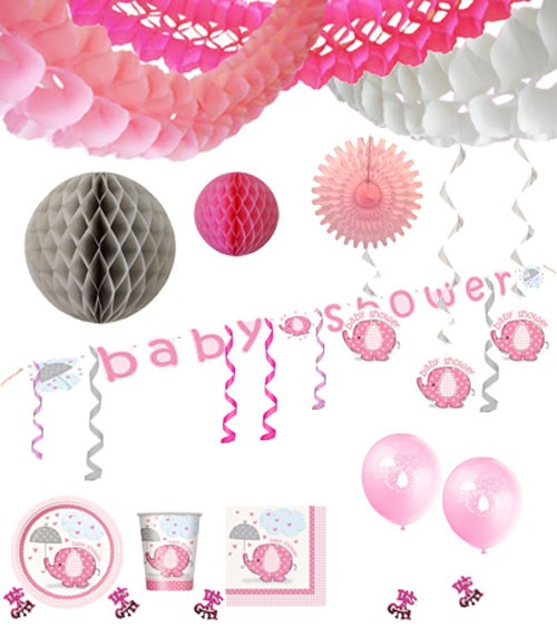 "Baby Deko Rosa Baby Party Deko-set ""babyfant Rosa"""