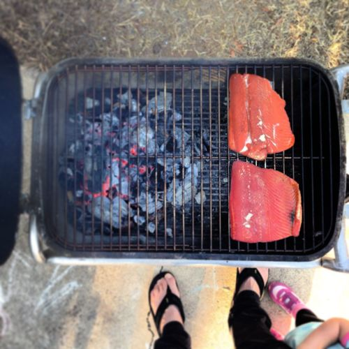 smoked salmon on the pk grill