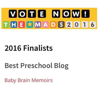 "OMG I'm A MAD Blog Awards ""Best Pre School Blog"" Finalist & What A Journey It's Been! Here's How To Vote For Us To Win!"