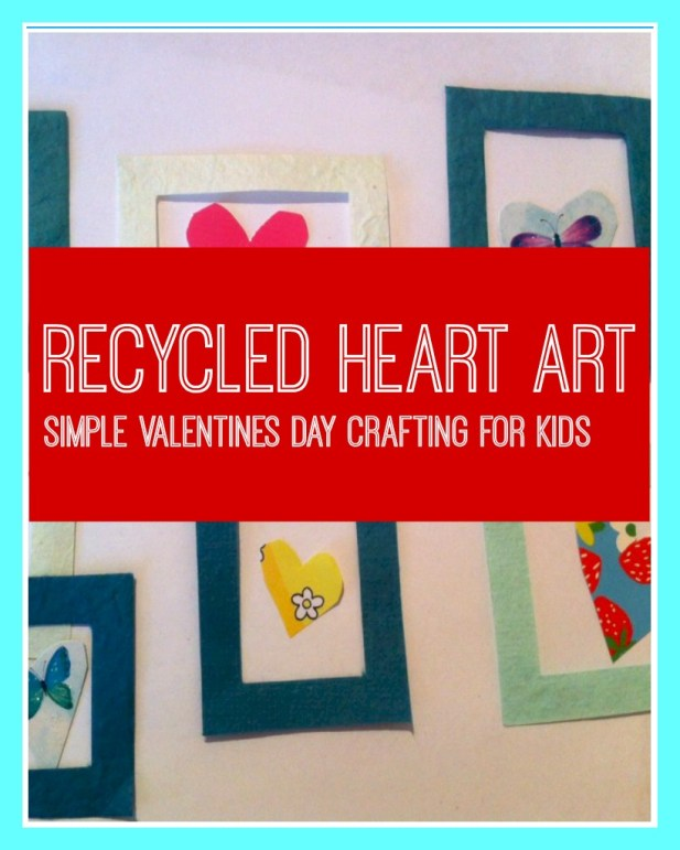 Recycled heart art