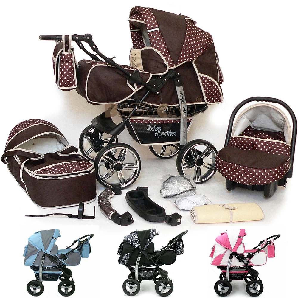Baby Pram Stroller Pushchair + Car Seat Carrycot Buggy Travel System Details About Sale Baby Pram Stroller Pushchair Car Seat Carrycot Buggy 3in1 Travel System